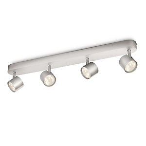 Philips Star LED 4 Bar Spotlight Aluminium