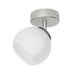 Philips Balla LED Single Spotlight Matt Chrome & Frosted Glass