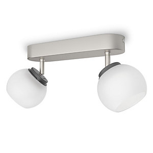 Philips Balla LED 2 Bar Spotlight Matt Chrome & Frosted Glass