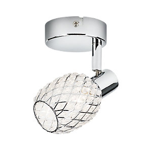 Philips Deltoid Single Spotlight Polished Chrome & Glass