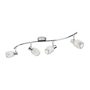 Philips Deltoid 4 Bar Spotlight Polished Chrome & Glass