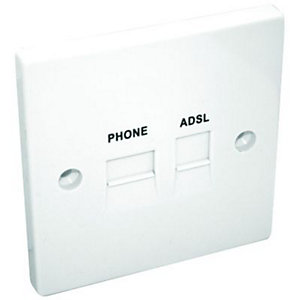Maxview ADSL & Telephone Flush Extension Socket