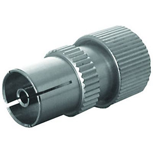 Wickes TV/Fm Coaxial Alloy Sockets