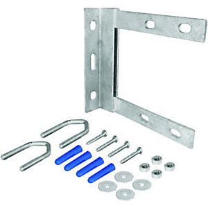 Wickes Wall Mounting Aerial Bracket Fixing Kit 6inch