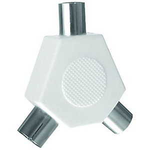 Wickes TV/FM 2 Way Coaxial 'Y' Splitter