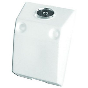 Wickes TV/FM Single Surface Coaxial Outlet Box