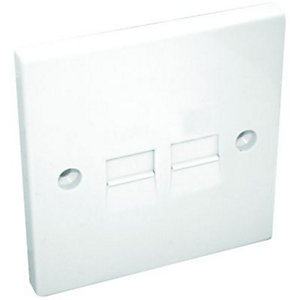 Maxview Telephone Flush Extension Socket Twin