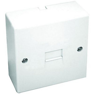Maxview Telephone Surface Extension Socket Single