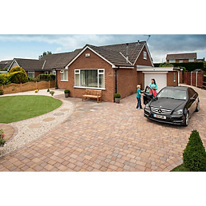 Marshalls Tegula 9.73m2 Driveway Pack - Traditional