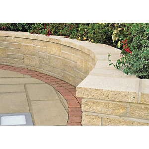 Marshalls Saxon Coping 600 x 272mm Single - Buff