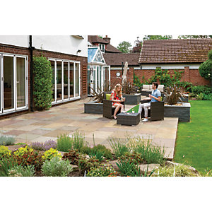 Marshalls Indian Sandstone 15.2m2 Patio Pack - Buff Multi