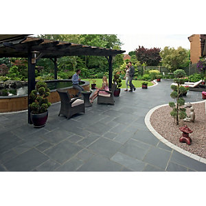 Marshalls Natural Slate 14.98m2 Patio Pack - Midnight Blue