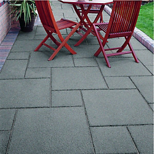 Wickes Buxton Paving 300x300mm Charcoal Single