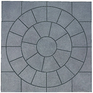 Wickes Buxton Circle Kit 2470x2470mm Charcoal