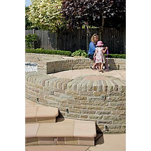 Marshalls Fairstone Pitched Walling 300 x 100mm 215 Pack - Autumn Bronze