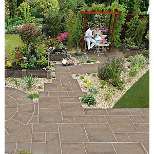 Wickes Heritage Paving 600x600mm Weathered Yorkstone 22 Pack