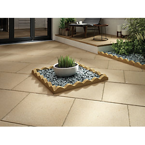 Wickes Buxton Paving 600x600mm Buff Single
