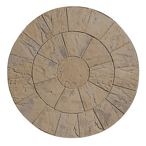 Wickes Heritage Paving Circle Kit Weathered Yorkstone