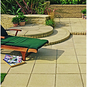 Wickes Buxton Paving 600x600mm Buff 30 Pack