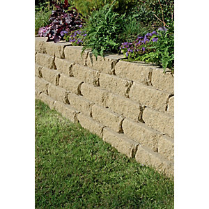 Wickes Croft Stone Walling 300x170mm Buff 90 Pack