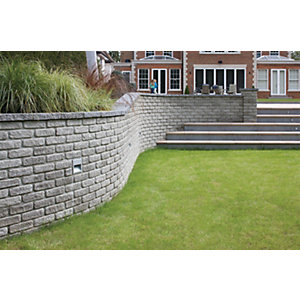 Marshalls Marshalite Walling 220 x 100mm Rustic 320 Pack - Ash Multi