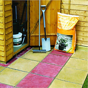 Wickes Lindale Utility Paving Slab 450x450mm Buff 60 Pack