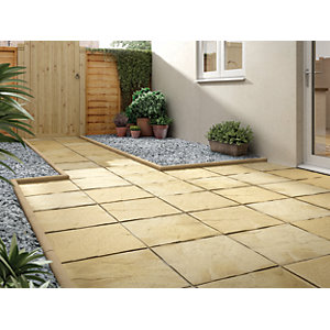 Wickes Lindale Utility Paving Slab 450x450mm Buff Single