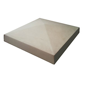 Marshalls Cast Pier Cap 380x380mm Grey Single