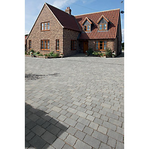 Wickes Drivesett Tegula Paving 240x160mm Pennant Grey Pack 284