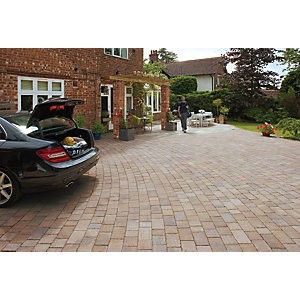 Marshalls Drivesett Tegula Block Paving 240 x 160mm Pack 284 - Harvest