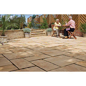 Wickes Heritage Paving 300x300mm Yorkstone 44 Pack
