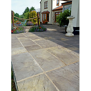 Wickes Heritage Paving 600x600mm Old Yorkstone 22 Pack