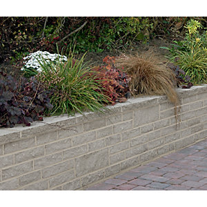 Marshalls Marshalite Walling 300 x 100mm Pitched Face 297 Pack - Ash Multi