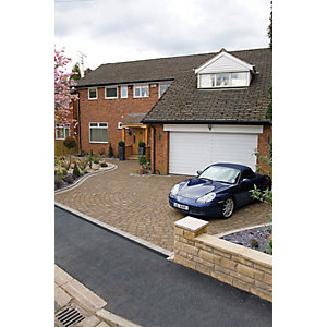 Wickes Drivesett Tegula Paving 160x160mm Hazelnut Pack 426