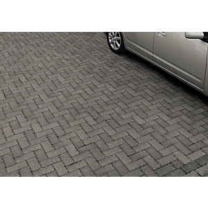 Marshalls Driveline Block Paving Priora 200 x 100mm Pack 404 - Charcoal