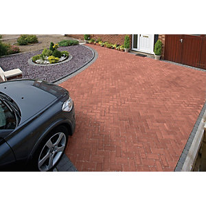 Marshalls Driveline Block Paving Priora 200 x 100mm Pack 404 - Red