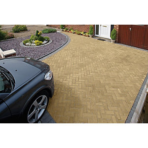 Marshalls Driveline Block Paving Priora 200 x 100mm Pack 404 - Buff