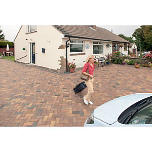 Marshalls Driveline Block Paving Priora 200 x 100mm Pack 404 - Ochre