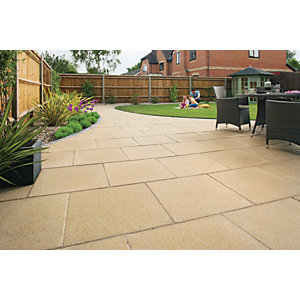 Wickes Perfecta Paving 450x450mm Buff 60 Pack