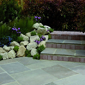 Wickes Indian Sandstone Paving Brown Project Pack