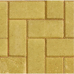 Wickes Block Paving 200x100mm Buff 488 Pack