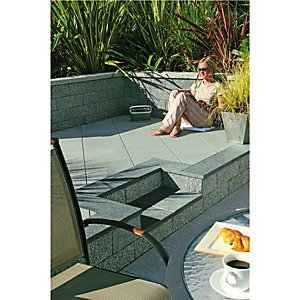Wickes Argent Paving 400x400mm Smooth Light Grey 60 Pack