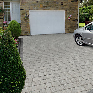 Wickes Argent Priora Block Paving Light Project Pack