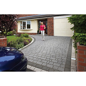 Wickes Argent Priora Block Paving Graphite Project Pack