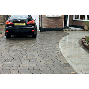 Marshalls Drivesett Tegula Priora Block Paving 120 x 160mm Pack 348 - Pennant Grey