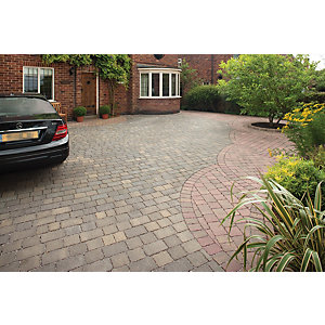 Marshalls Drivesett Tegula Priora Block Paving 120 x 160mm Pack 232 - Harvest