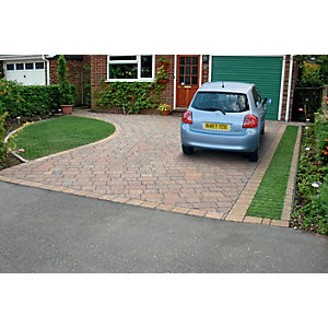 Wickes Drivesett Tegula Priora 120x160mm Traditional Pack 492