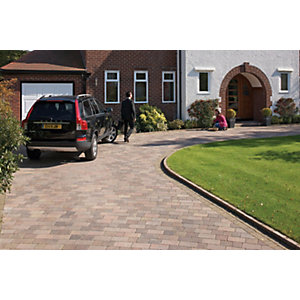 Wickes Drivesett Tegula Paving 240x160mm Traditional Pack 284