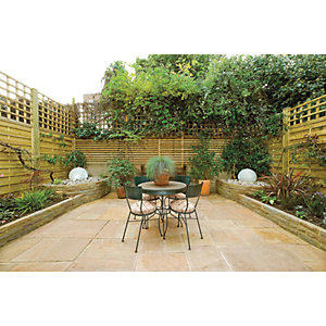 Marshalls Antique Alverno 15.5m2 Patio Pack - Golden Sand Multi