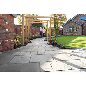 Marshalls Antique Alverno Patio Pack 15.5m2 - Silver Birch